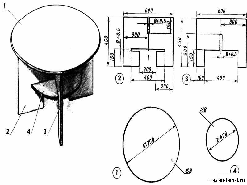 Кухонный стол своими руками из дсп чертежи 27
