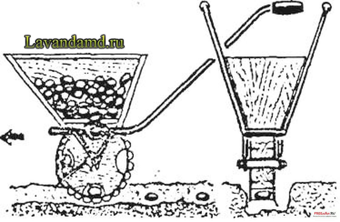 Самодельная ручная картофелесажалка своими руками
