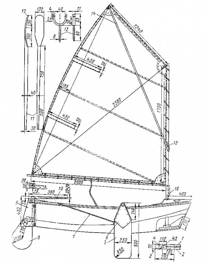 Детали оборудования лодки: