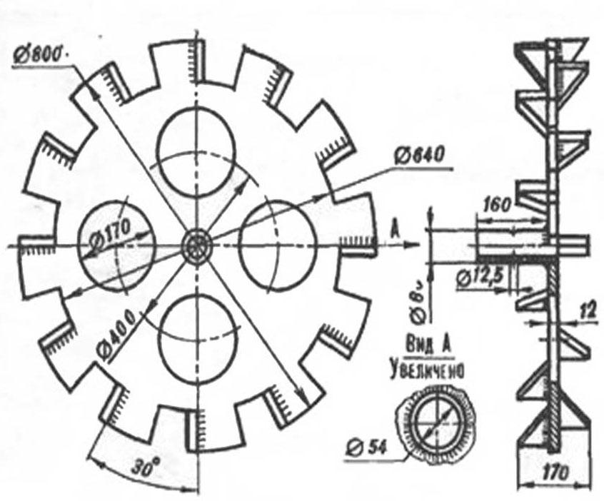 Колеса для культиватора чертежи