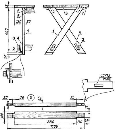 Как сделать стол своими руками из досок чертежи 35